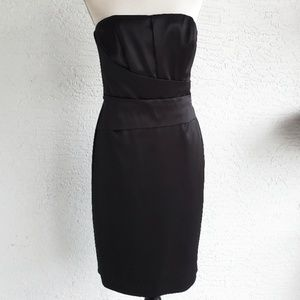White House Black Market Black Strapless Dress